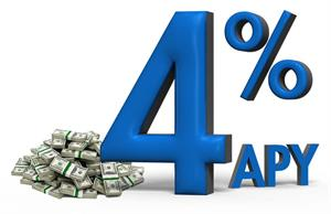 4 Percent APY Rate