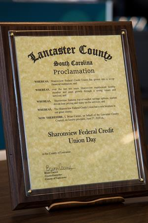 Lancaster County SC Sharonview Federal Credit Union Day Closeup