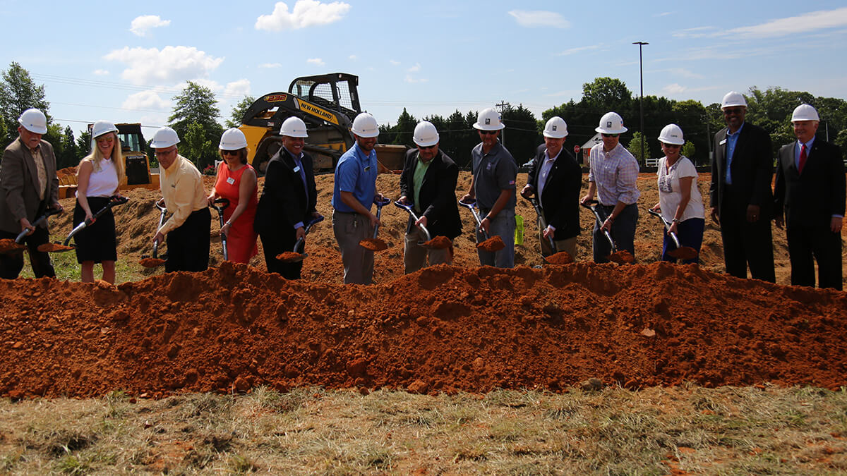 Groundbreaking event for Sharonview Simpsonville Branch