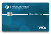Front of Affordable Rate Visa Card
